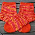 Nancy's Very Orange socks